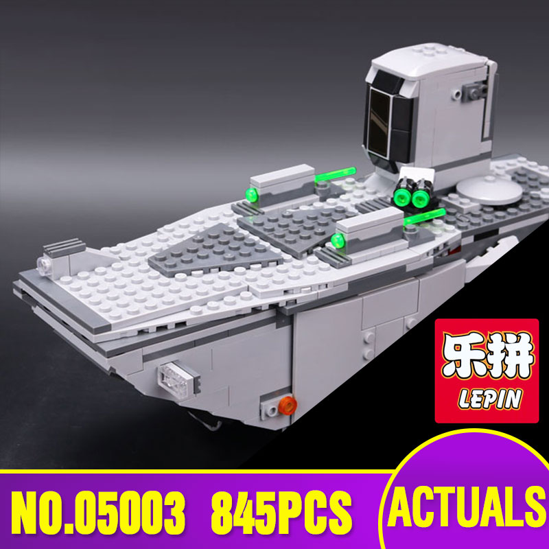 LEPIN 05003 Star 845PCS Force Awakens First Order Transporter Toys Building Blocks Marvel classic With 75103 Wars Model Gifts lepin 05003 star wars first order transporter building block 845pcs diy educational toys for children compatible legoe