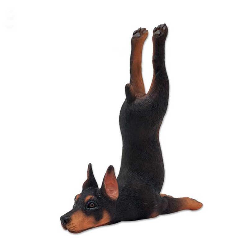1/6 escala estilo yoga resina animal estatueta gato cachorro dubin pug decoração estátua para 12 polegadas figura de ação para coleção