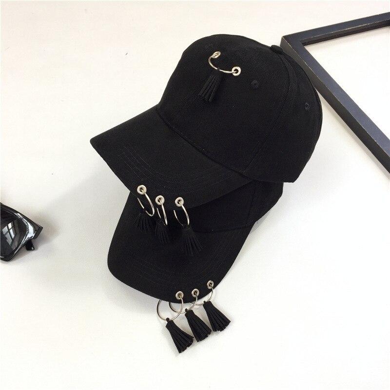 Personalized Hats Baseball-Cap Casquette Spring Black Women Summer Tassels Hip-Hop-Cap