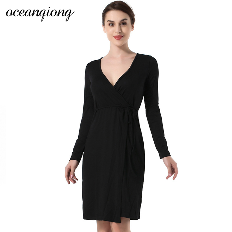 2018 Women Dresses Winter Sexy Knitted Party Dress Long Sleeve Bandage Casual Bodycon Black Deep V Neck Mini Dress Vestidos цена