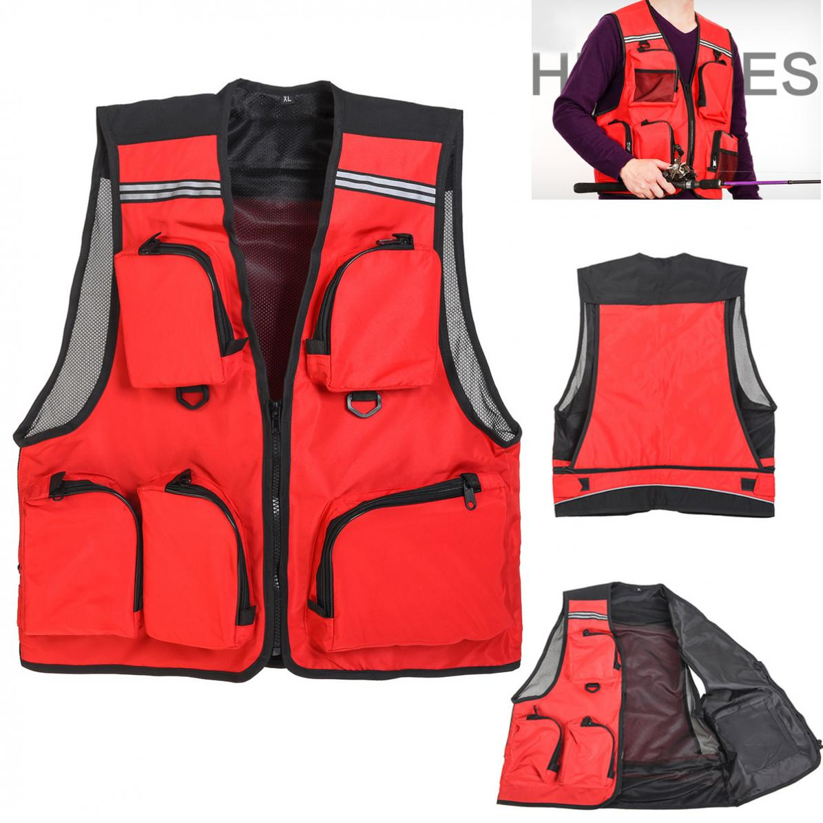 Fishing Tools Fishing Methodical Outdoor Sport Thin Breathable Fishing Vest 5 Pocket Quick Dry Mesh Waistcoat Jacket Fast Color