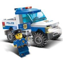 2019 84pcs City For Police Pickup Truck Blocks Bricks Building Block Sets Educational Toys For Children Compatible For Legoings стоимость