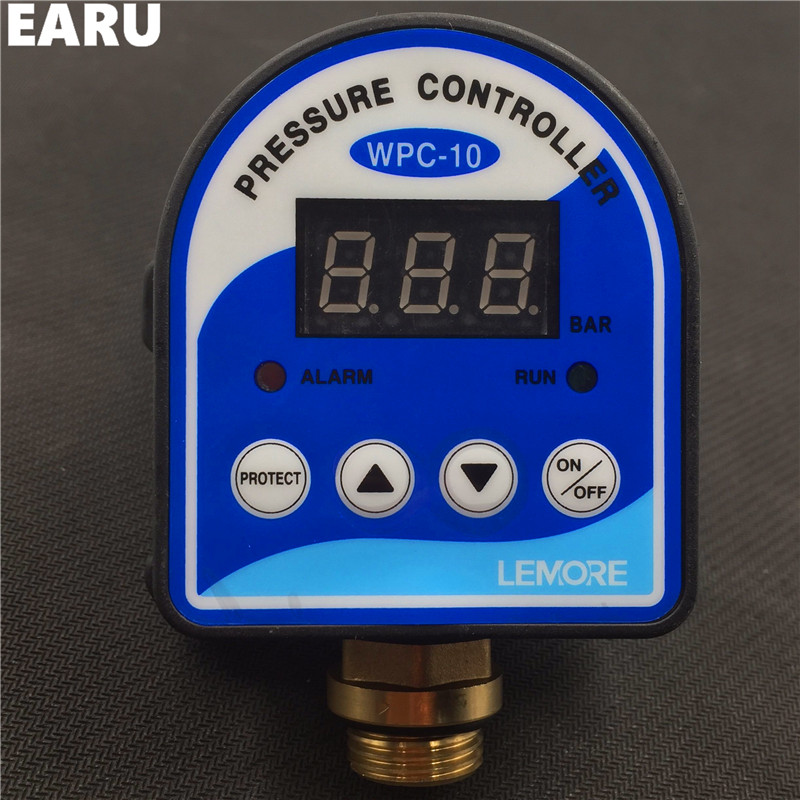 """1pc Digital Pressure Control Switch WPC-10 Digital Display WPC 10 Eletronic Pressure Controller for Water Pump With G1/2""""Adapter"""