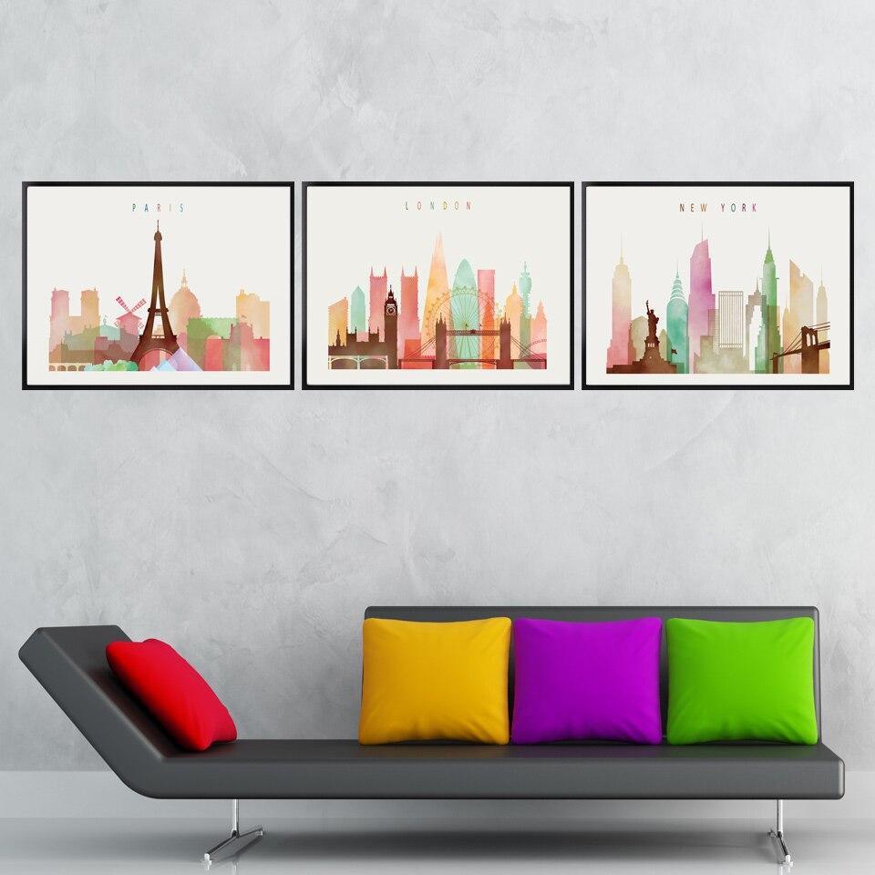 Paris Living Room Decor Popular Paris Watercolor Buy Cheap Paris Watercolor Lots From
