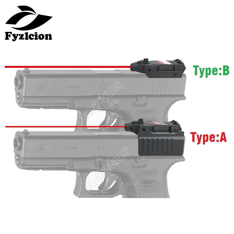 Hunting Tactical Compact Pistol Hand Gun Red Laser Sight Scope For Glock 17 18C 22 34 Series High/low Mount