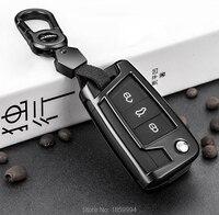 For 2016 2017 2018 VW Tiguan Mk2 Car Key Wallet Protective Cover Zinc Alloy Car Accessories