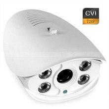 Security Bullet Camera CVI HD 720P 1.0MP Outdoor 4pcs Array IR 6mm Fixed Lens