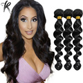 Loose Curly Wave Hair Weave Jet Black #1 Brazilian Virgin Hair 3PCS Loose Deep Wave Hair Extensions Remy Hair Tissage 05L303