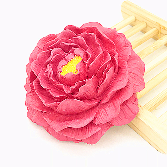 Peony Aroma Gypsum Flower Mould Furnishing Die Hand Made 3D Soap Silicone Mold
