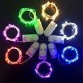 4 М 40 LED Серебряная Медная Проволока 2 Батарея Клетки Кнопки питание Привело Струнные Светильники для Праздник Рождество Свадьба Хэллоуин украшения