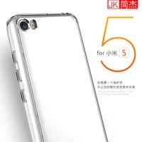JK Brand Phone Case For Xiaomi Mi5 Colorful Transparent Clear Soft TPU Frame Hard PC Back