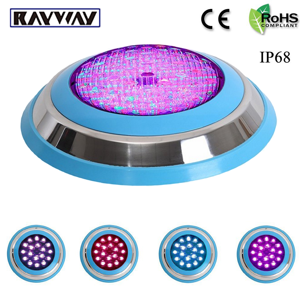 RAYWAY LED Swimming pool light 54W AC/DC 12V RGB IP68 LED remote control underwater Lamp Outdoor Lighting Pond light led piscina