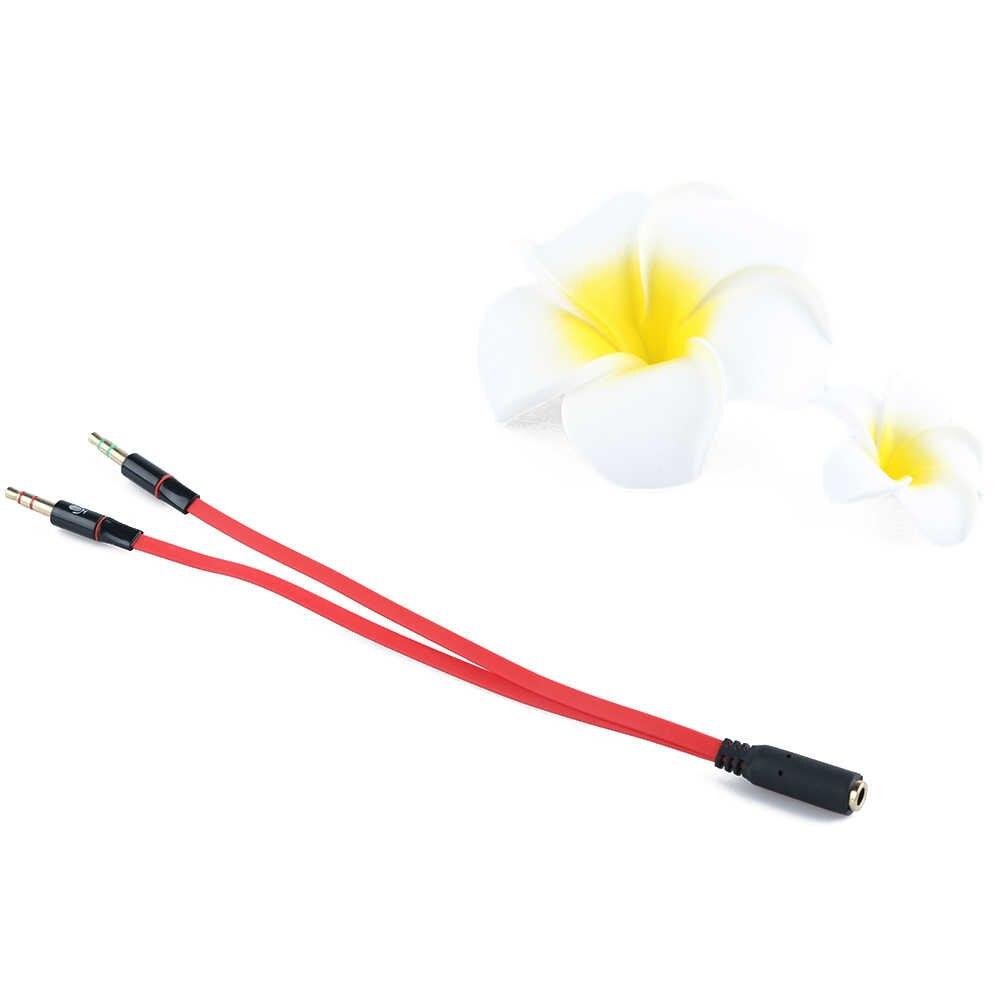 3.5mm kabel do słuchawek słuchawkowych Micphone Y przejściówka rozgałęziająca 1 żeński na 2 męski podłączony przewód do laptopa