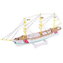 DIY Plastic 1:300 Model Endeavour Electric Training Sailing Ship Assembly Model AB02101 цена
