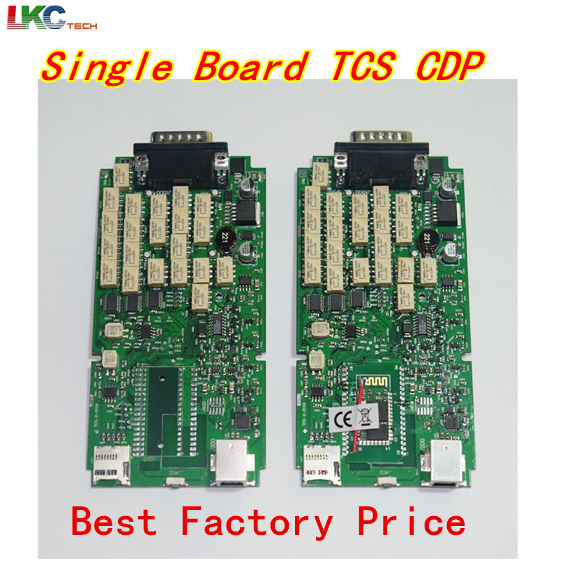 2018 Best Quality Single Green PCB board TCS CDP+ Pro NO Bluetooth cars & Trucks Diagnostic tool 2014.2/2015.3 Optional [free shipping]a quality diagnostic tool 2013 release 1 tcs cdp plus for cars trucks and obd2 3 in 1 no activation needed