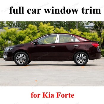 car accessories For K-ia Forte full window trims with column sill frame car styling Stainless steel