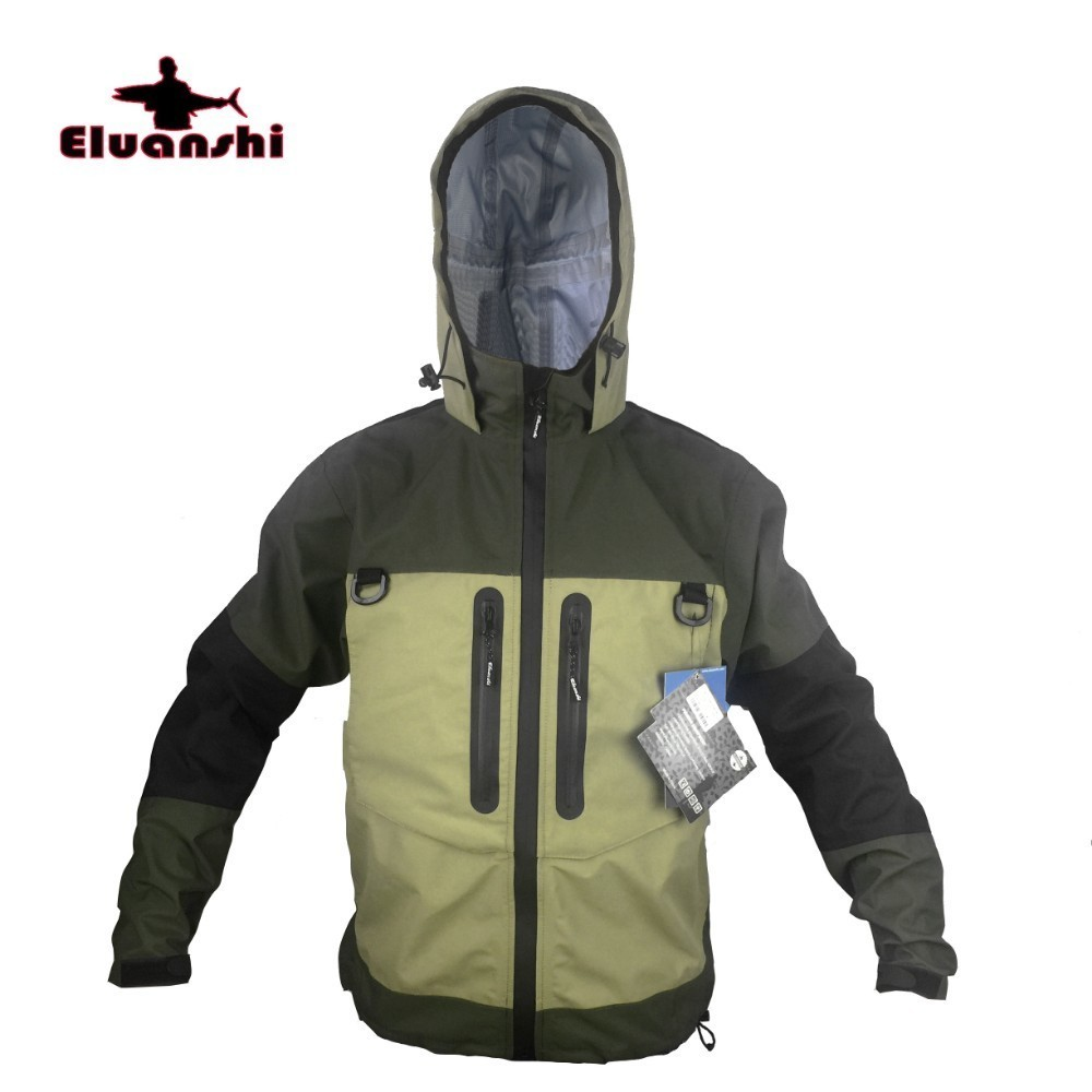 Wading Jacket Breathable Fly winter Fishing Jacket Waterproof Huting Fishing Wader Clothes Fishing Outerwear ELUANSHI supplies