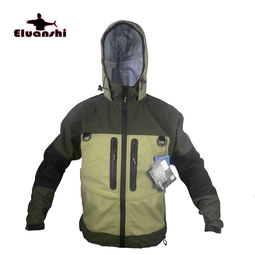 Wading veste respirante mouche hiver pêche veste imperméable Huting pêche Wader vêtements pêche survêtement ELUANSHI fournitures