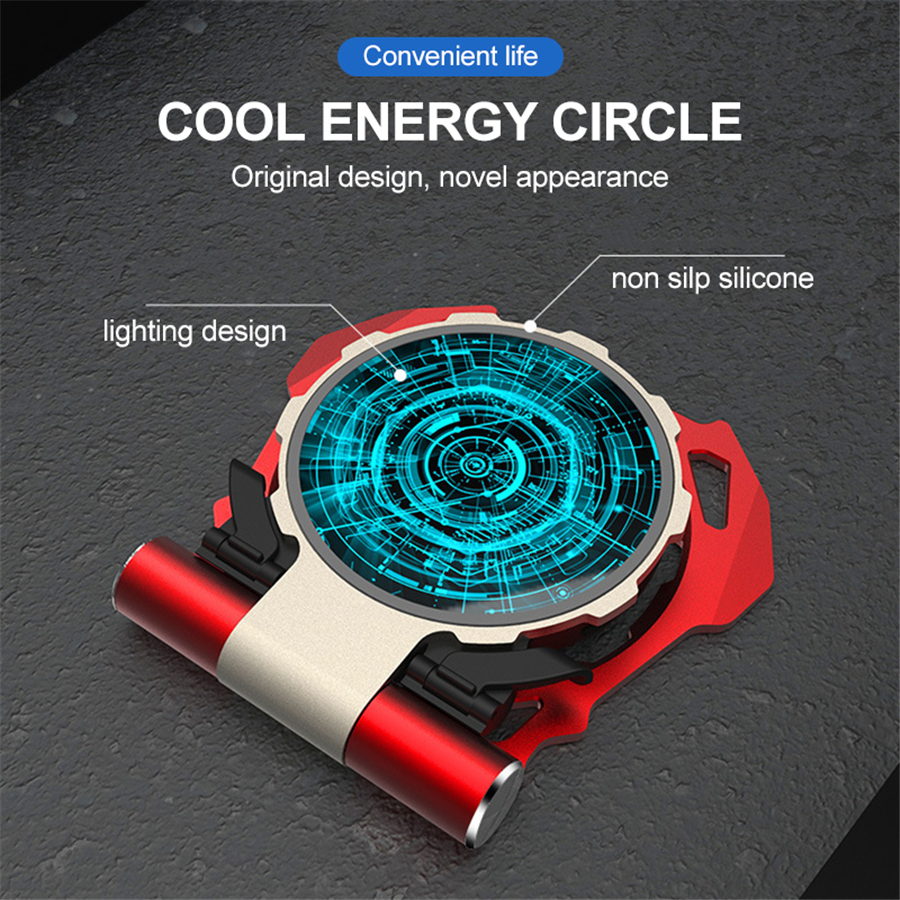 Glowing Qi Wireless Charger Portable Wireless Fast Charger for iPhone X 8 Samsung S9 Magic Circle