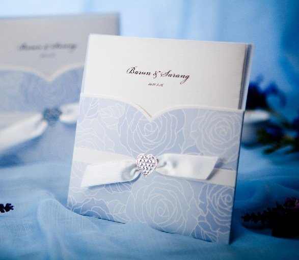 Customize Invitation Card Wedding Cards W1114 Favors Come With Envelope