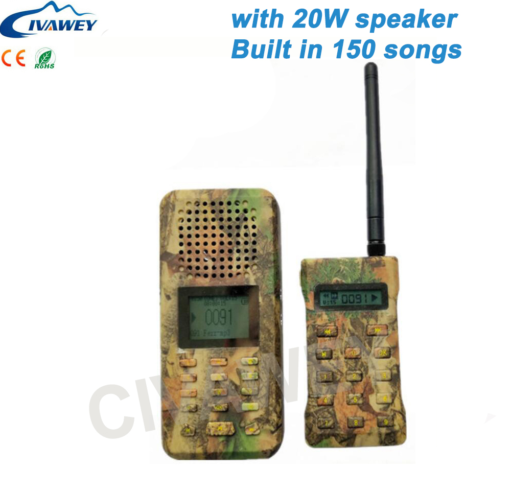 With remote controller 20W Mallard Duck Call Snow Goose call 150 Birds sound hunting MP3 Player bird caller timer on/off-in Hunting Decoy from Sports & Entertainment    2