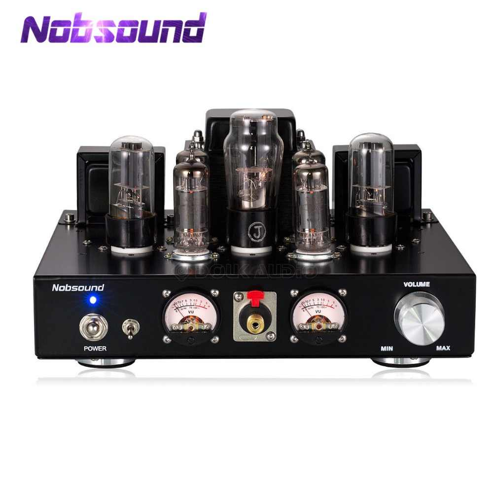 Nobsound Buatan Tangan HI FI 6P1 Vacuum Tube Integrated Amplifier Stereo Single-Berakhir Kelas HEADPHONE AMP Hitam