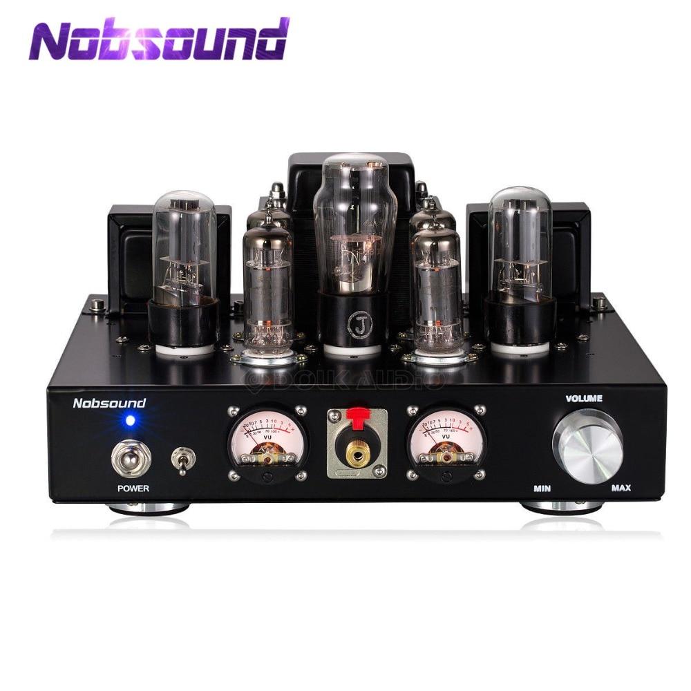Nobsound Handgemaakte HiFi 6P1 Vacuum Tube Geïntegreerde Versterker Stereo Single ended Klasse A Hoofdtelefoon Amp Zwart-in Versterker van Consumentenelektronica op  Groep 1
