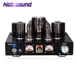 Image 1 - Nobsound Handmade HiFi 6P1 rura próżniowa zintegrowany wzmacniacz Stereo Single ended wzmacniacz słuchawkowy klasy A czarny