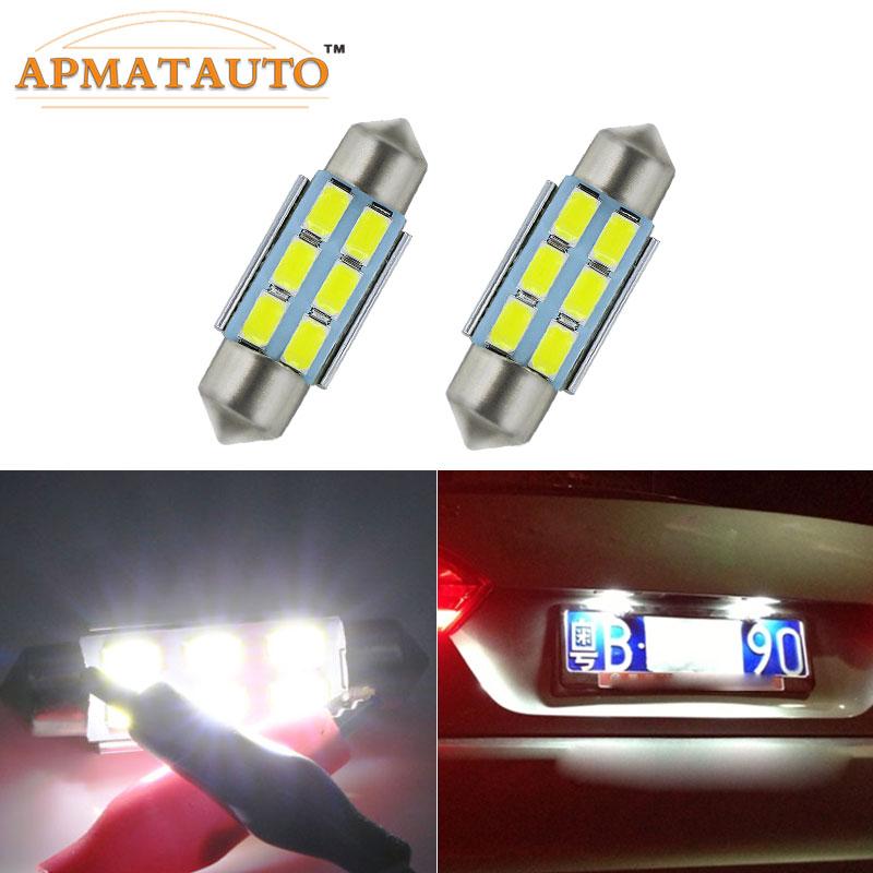 2 X 36mm  No Error  License  Number Plate Light LED Bulbs C5W  For  Volkswagen  VW Golf 4 5 Passat 3B 3BG 3C CC Polo 9N T5 Eos