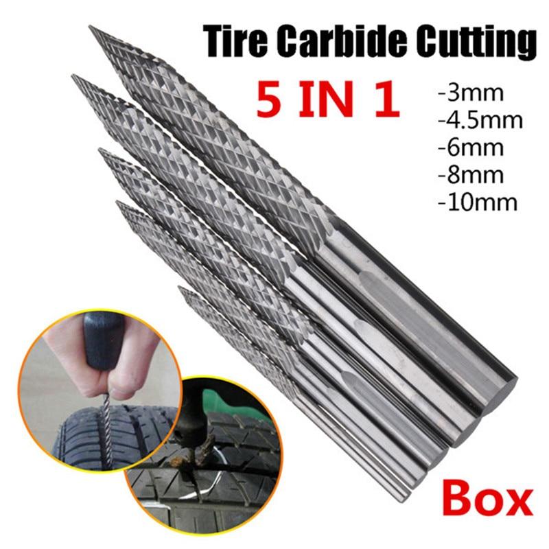 5Pcs Tire Repair High Carbide Cutting Tool Drill Reamer Bit Burr Cutting Tool Drill Reamer 3+4.5+6+8+10mm Car Repair Tool denim толстовка denim 252989600122658