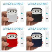 For Apple Airpods Silicone Case Protective Cover Pouch Anti Lost Protector Sleeve Case Funda Coque For