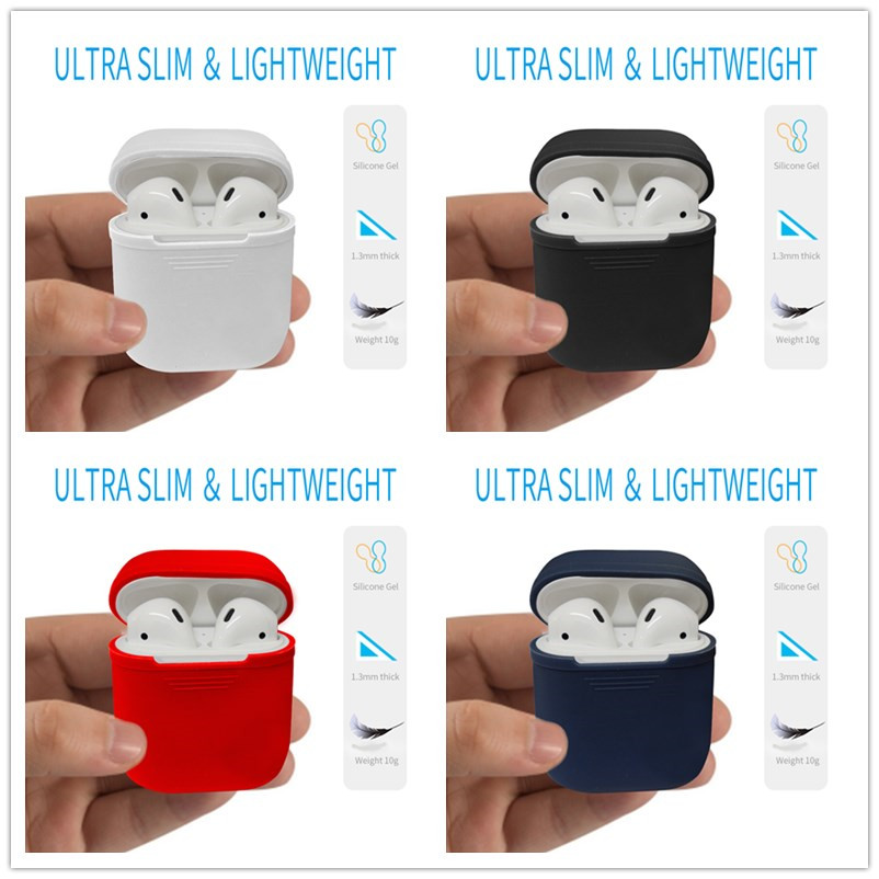 For Apple Airpods Silicone Case Protective Cover Pouch Anti-Lost Protector Sleeve case Funda Coque for air pods Accessories etui