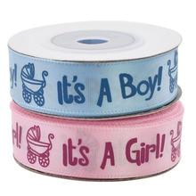 1 ロール 10 ヤードそれは少年少女のリボン洗礼サテンリボンギフト包装 diy の工芸品クリスマスリボン