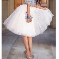 Quality 5 Layers 65cm Summer Midi Tulle Skirt Fashion Pleated TUTU Skirts Womens Lolita Petticoat Bridesmaids Jupe Saia faldas