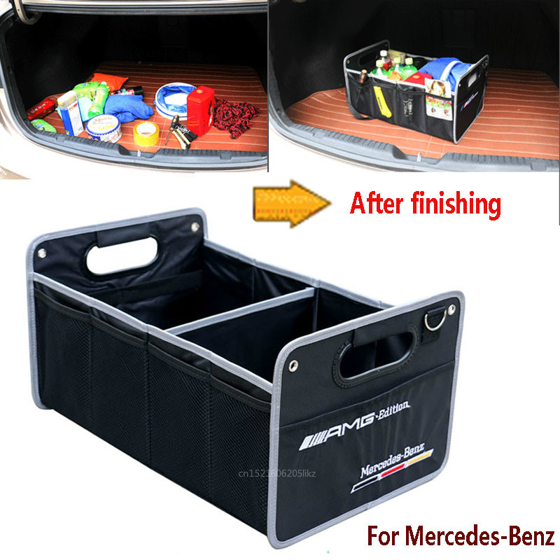 Storage-Bag Car-Organizer Collapsible For Cars Mercedes-Benz/c-Class Trunk-Box Black