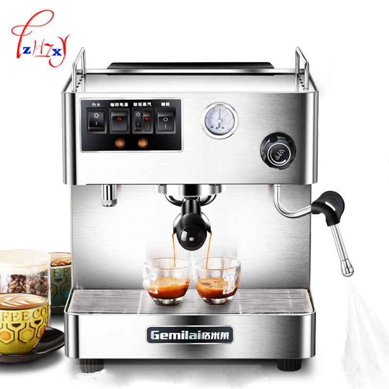 home use Semi-automatic Coffee Machine Espresso Coffee maker for Commercial Office Coffee Maker CRM3012 1pc full automatic mini portable espresso maker black coffee maker operated coffee machine for home 1pc