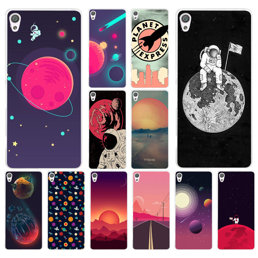Beautiful 255ad Space Moons Cartoon Hard Transparent Case Cover For Sony Xperia Xa Xa1 X Xz Z5 Z1 Z3 M4 Aqua E5 Compact Premium Long Performance Life Phone Bags & Cases Cellphones & Telecommunications