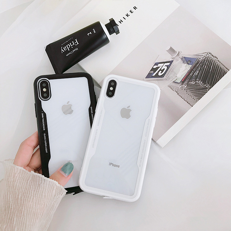 White&Black Frame Protective Phone Case For iPhone 7