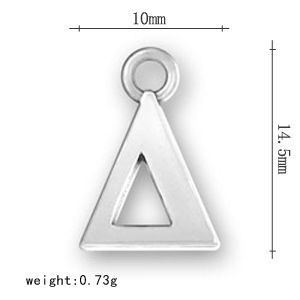 yiwu zinc alloy creative greek letter charms ancient silver small wholesale jewelry custom environmental protection accessories