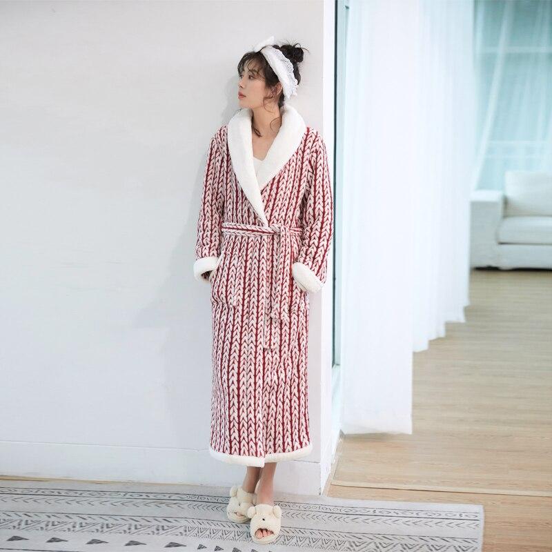 2a9e5c61e155d8 Comprar Amantes Plus Size Robe De Flanela Inverno Extra Longo Quente ...