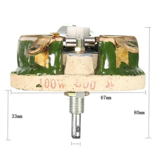 500 ohm 100w power wirewound potentiometer rotary rheostat variable