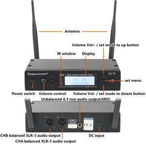 Image 2 - Nuovo di Alta Qualità UHF Professionale SU 10 Doppio Microfono Senza Fili Sistema di spettacoli teatrali a due microfono senza fili