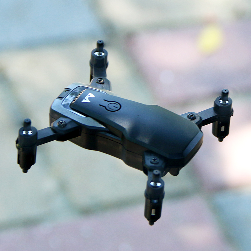 Foldable RC Mini Drone Pocket Dron With Camera HD No Camera Remote Control Helicopter One-Button Return Altitude Hold Quadcopter contrast trim pocket notch lapel texture one button blazer