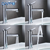 GAPPO Chrome Bathroom Basin Faucet Brass Sink Faucets Mixer Waterfall Torneira Bath Tap Grifo Modern Style