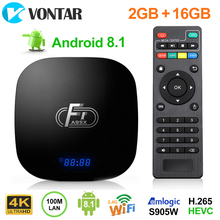 Смарт Android 8,1 tv Box 2 Гб 16 Гб Amlogic S905W четырехъядерный Suppot H.265 4 K 30tps 2,4 ГГц WiFi медиаплеер телеприставка 1 ГБ 8 ГБ