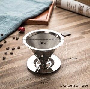Image 2 - Многоразовые фильтры для кофе, моющиеся капельные фильтры из нержавеющей стали для приготовления кофе эспрессо, ручная мельница для кофейных зерен