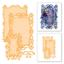 YaMinSanNiO Lace Metal Cutting Dies Frame Dies Scrapbooking for Card Making New 2019 Decor Craft Rectangle Die Cuts Embossing цена