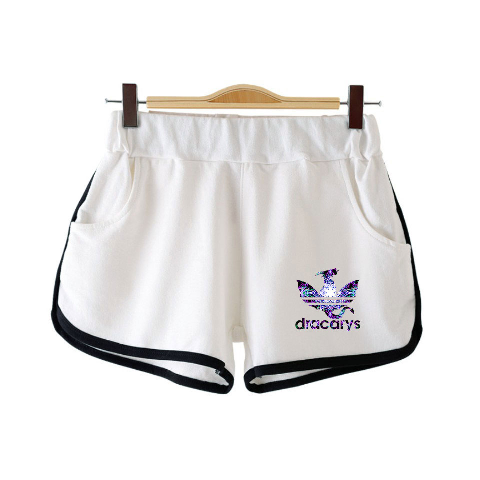 Dracarys Women Shortpant K Pop Casual Elastic Waist Fitness Fashion Short Pocket Harajuku All-match Solid Soft Short Tracksuit