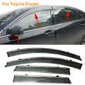 Car Stylingg Awnings Shelters 4pcs/lot Window Visors For Toyota Crown 2008-2017 Sun Rain Shield Stickers Covers