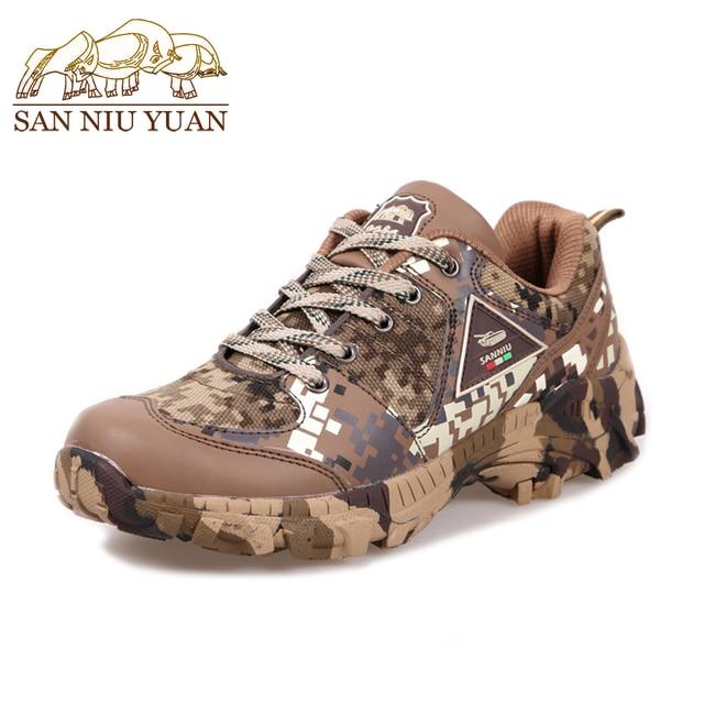 Nowy przyjazd mężczyźni wiosna jesień wodoodporna piesze wycieczki buty zielony kamuflaż płótnie do chodzenia buty wspinaczka buty taktyczne Militares